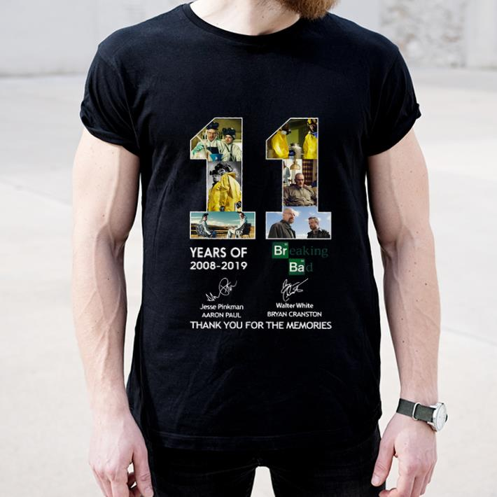 Top 11 Years of Breaking Bad Thank You For The Memories Signatures shirt 4 - Top 11 Years of Breaking Bad Thank You For The Memories Signatures shirt
