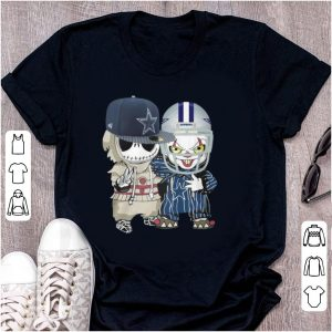 Top Baby Jack Skellington and Pennywise Dallas Cowboys shirt