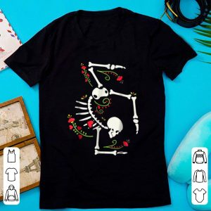 Top Cute Gymnastics Skeleton Halloween Costume shirt