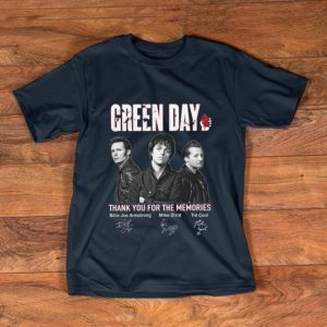 Top Green Day Signatures Thank You For The Memories shirt