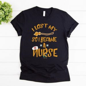 Top I Became A Nurse Funny Halloween Witch Broom shirt