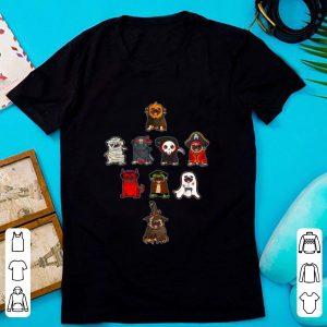 Top Pug Costume Mummy Witch Dracula Ninja Boo Pirate Halloween shirt