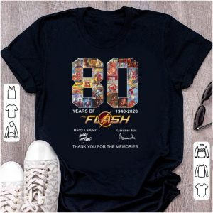 Top The Flash 80 Years 1940-2020 Thank You For The Memories shirt