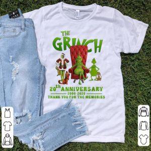 Top The Grinch 20th Anniversary 2000-2020 Christmas Grinch shirt