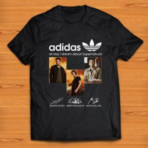 Awesome All Day I Dream About Supernatural Adidas Signatures shirt