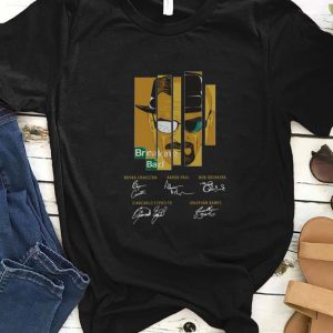 Awesome Breaking Bad Bryan Cranston Aaron Paul Bob Odenkirk Signatures shirt