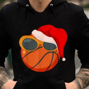 Awesome Christmas Basketball Player Glasses Santa Hat Pajama Gift sweater