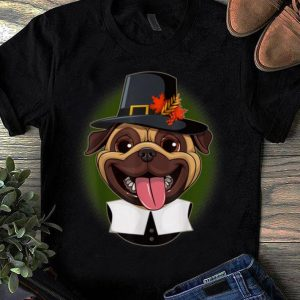 Awesome Funny Pug Thanksgiving Pilgrim Costume shirt