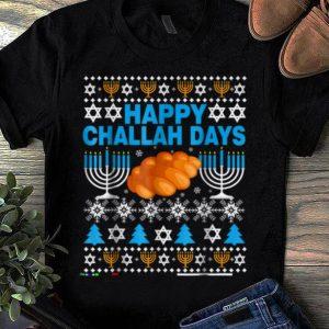 Awesome Happy Challah Days Hanukkah Funny Christmas Pajamas shirt