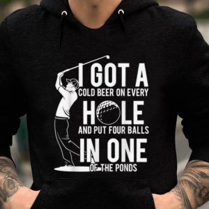 Awesome I got a hole in one golf funny golfing christmas birthday sweater