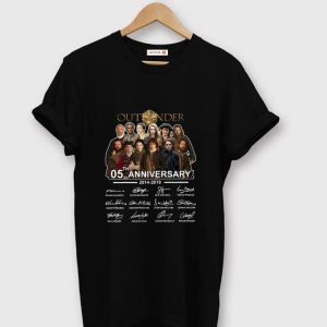 Awesome Outlander 05th Anniversary 2014-2019 Signatures shirt