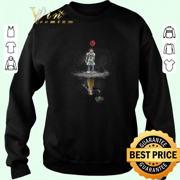 Awesome Pennywise reflection Water mirror Stephen King's IT The Clown shirt sweater