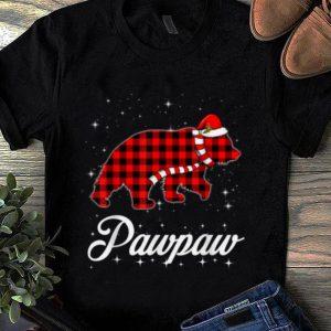 Awesome Red Plaid Pawpaw Bear Buffalo Matching Family Christmas shirt