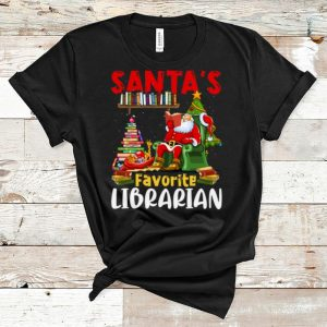 Awesome Santa's Favorite Librarian Christmas Book Lovers shirt