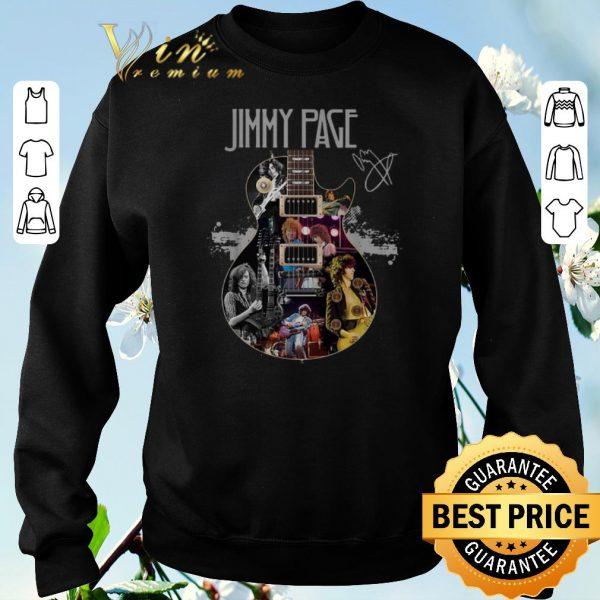 Awesome Signature Jimmy Page Guitarist shirt
