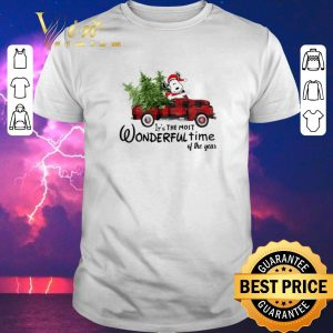 Awesome Snoopy Truck It's The Most Wonderful Time Of The Year Christmas shirt sweater