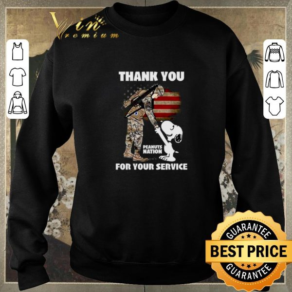 Awesome Snoopy veteran Thank you Peanuts nation for your service shirt sweater
