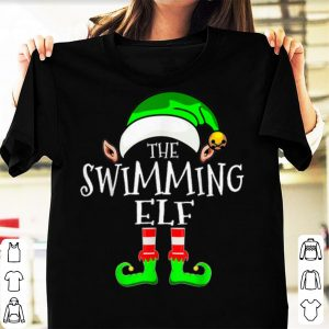 Awesome Swimming Elf Group Matching Family Christmas Gift Funny shirt