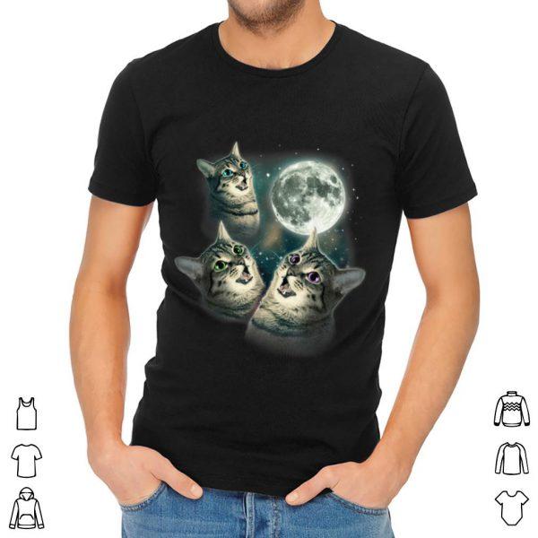 Awesome Three Cats Moon shirt