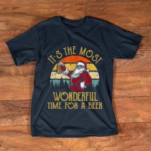 Awesome Vintage Santa Claus It's The Most Wonderful Time For A Beer shirt