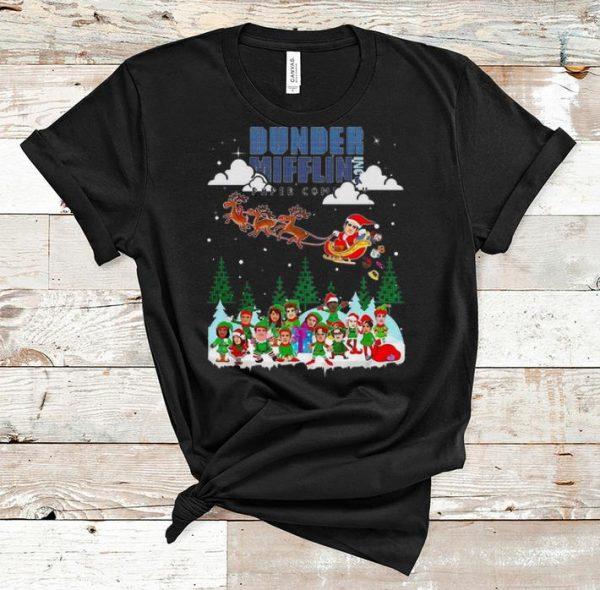 Beautiful Dunder Mifflin Paper Company Merry Christmas shirt