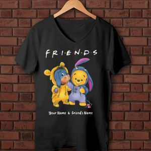 Beautiful Friend Your Name And Friends Name Baby Pooh And Eeyore Winnie shirt
