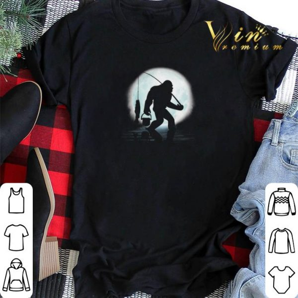 Bigfoot go fishing and moon shirt sweater