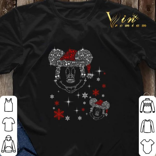 Diamond Mickey head Christmas shirt sweater