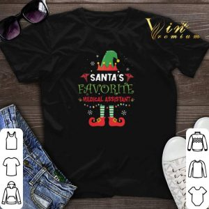 Elf Santa's favorite medical assistant shirt sweater
