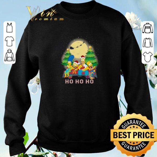 Funny Christmas The Simpsons Family ho ho ho shirt