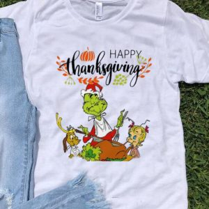 Funny The Grinch Eating Turkey Happy Thanksgiving shirt