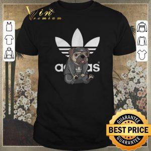 Funny adidas logo pug dog shirt sweater