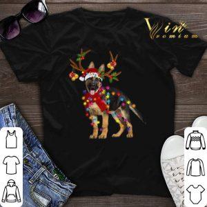 German Shepherd santa reindeer Christmas shirt sweater