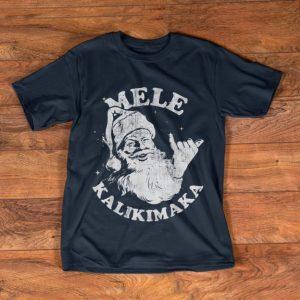 Great Christmas Mele Kalikimaka Santa Shaka shirt