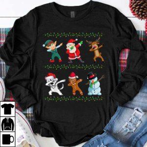 Great Funny Dabbing Santa Husky And Friends Christmas shirt