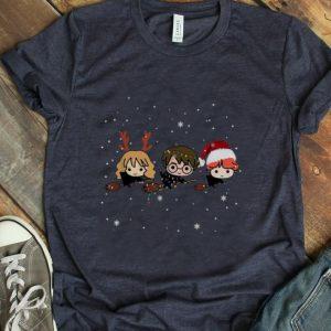 Great Harry Potter chibi riding a broom Christmas shirt