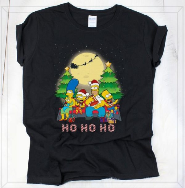 Great The Simpsons Family ho ho ho christmas shirt