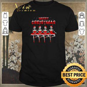 Hot Ballet skeletons Merry Christmas shirt