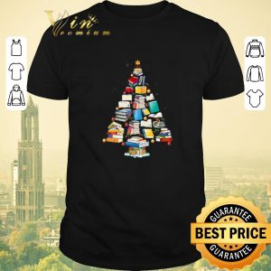 Hot Books Christmas tree shirt