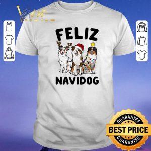 Hot Christmas Feliz Navidog Australian Shepherd shirt