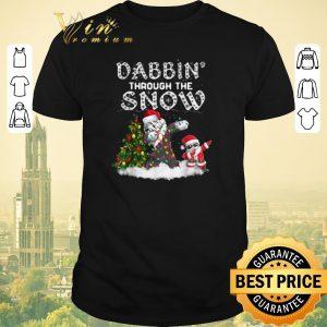 Hot Dabbin Through The Snow Old English Sheepdog Christmas shirt sweater