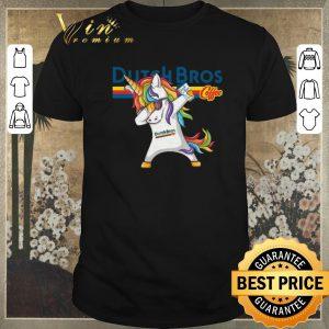 Hot Dabbing unicorn Dutch Bros Coffee shirt sweater