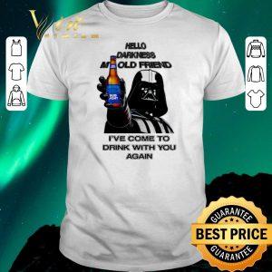 Hot Darth Vader hello darknes my old friend drink Bud Light shirt sweater