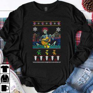 Hot Grateful Dead guitarist skeleton dancing bears ugly Christmas shirt