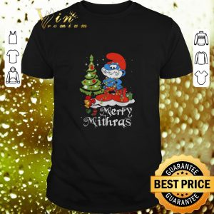Hot Les Schtroumpfs Merry Mithras Christmas tree shirt