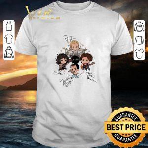 Hot Queen band chibi Friends signatures shirt