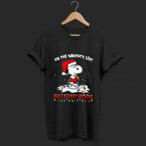 Hot Snoopy On The Naughty List And I Regret Nothing Christmas shirt