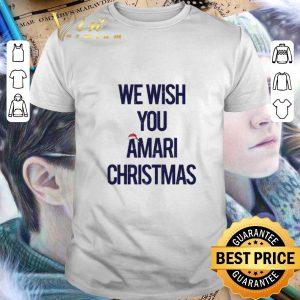 Hot We wish you Amari Christmas shirt