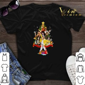 Merry Christmas tree Freddie Mercury Queen shirt