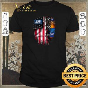 Nice Bud Light inside American flag shirt